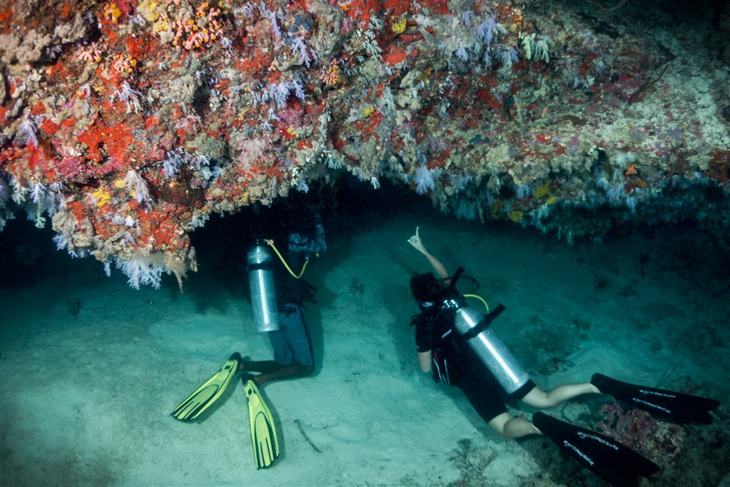 Scuba Diving Photo in Fulidhoo Caves in the Maldives
