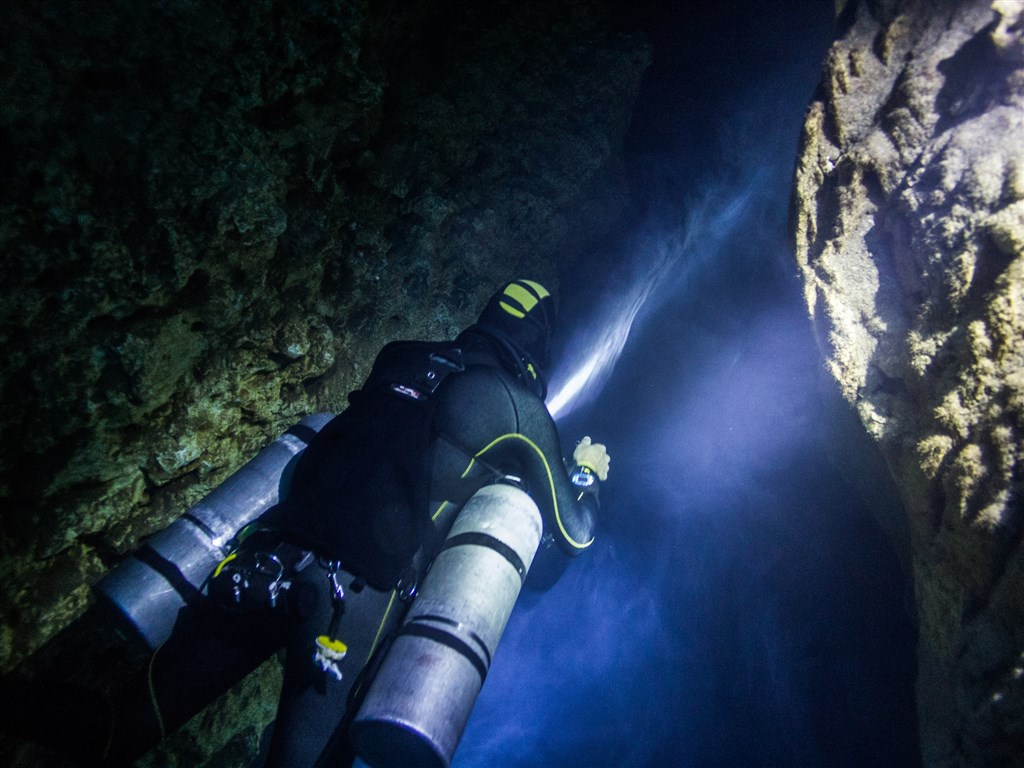 Scuba Diving Photo in Cenote DOS OJOS - THE PIT in Mexico