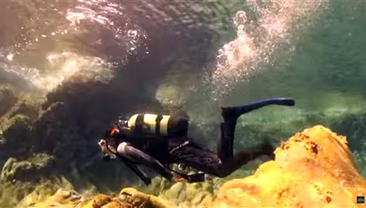 Scuba diving in Down to the Ancient Thera in Greece