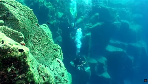 Scuba diving in Sharp Edge Wall in Greece