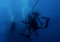 Scuba diving in Almog coral beach in Israel