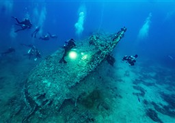 Scuba diving in Dunraven in Egypt