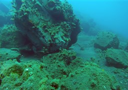 Scuba diving in Great Adiavatos Reef in Greece
