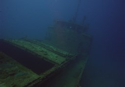Scuba diving in Kudima Wreck in the Maldives