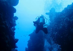 Scuba diving in The Canyon in Egypt