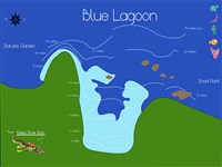 Dive site Blue Lagoon plan