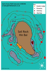 Dive site Sail Rock plan