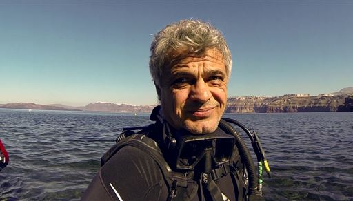 Scuba diving in Black Mountain Harbour in Greece